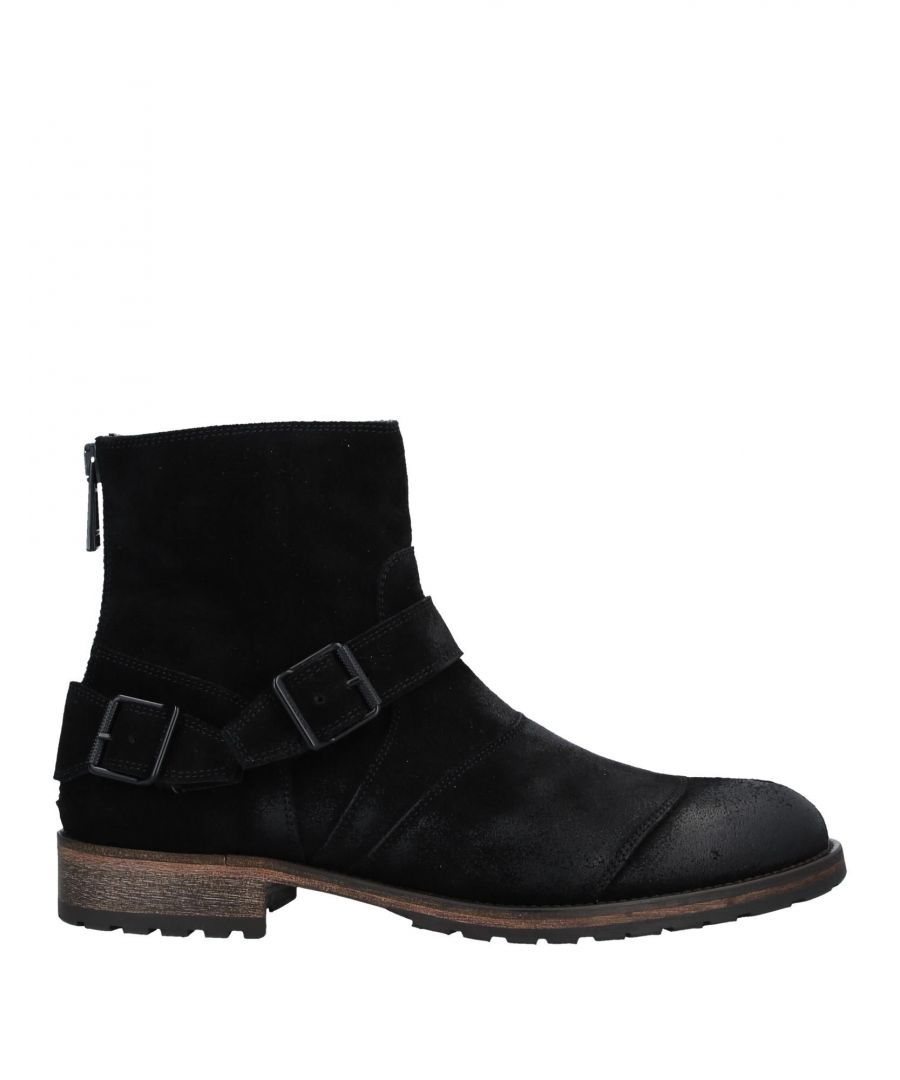 Image for Belstaff Black Leather Ankle Boots