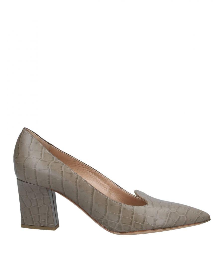 Image for Armani Collezioni Dove Grey Crocodile Print Leather Heels
