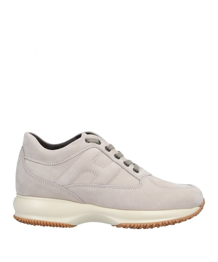 Image for Hogan Beige Leather Sneakers