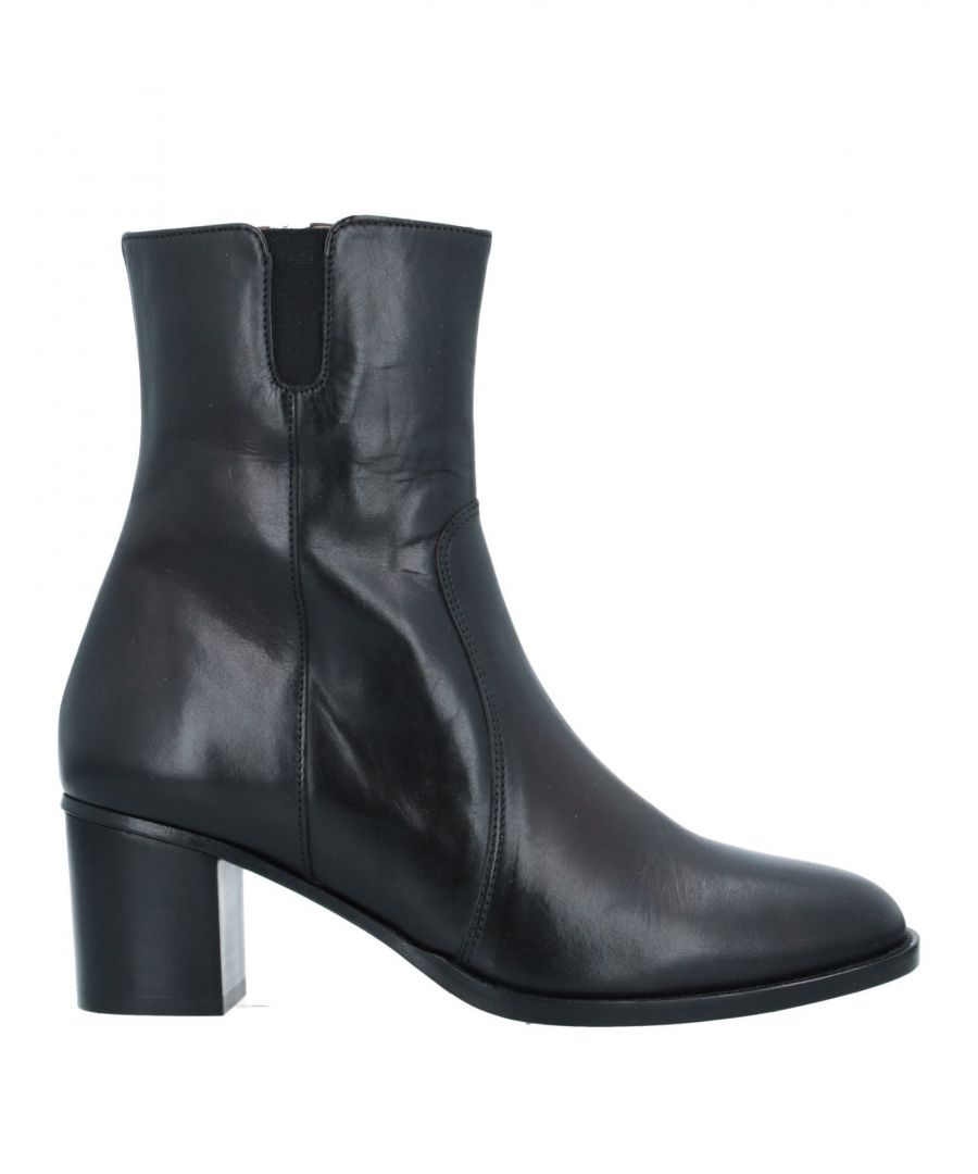 Image for Sessun Black Leather Ankle Boots