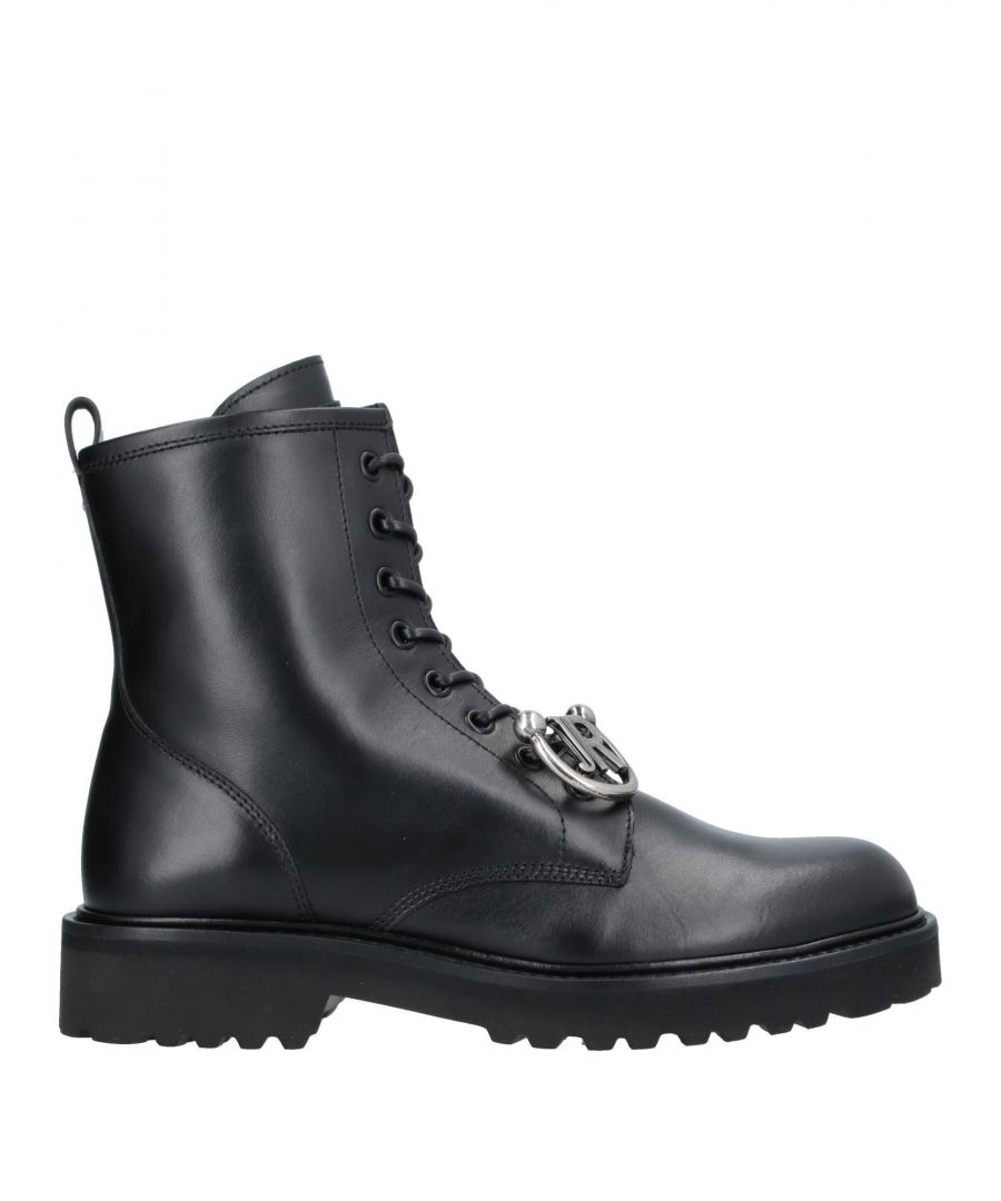 Image for John Richmond Black Calf Leather Boots
