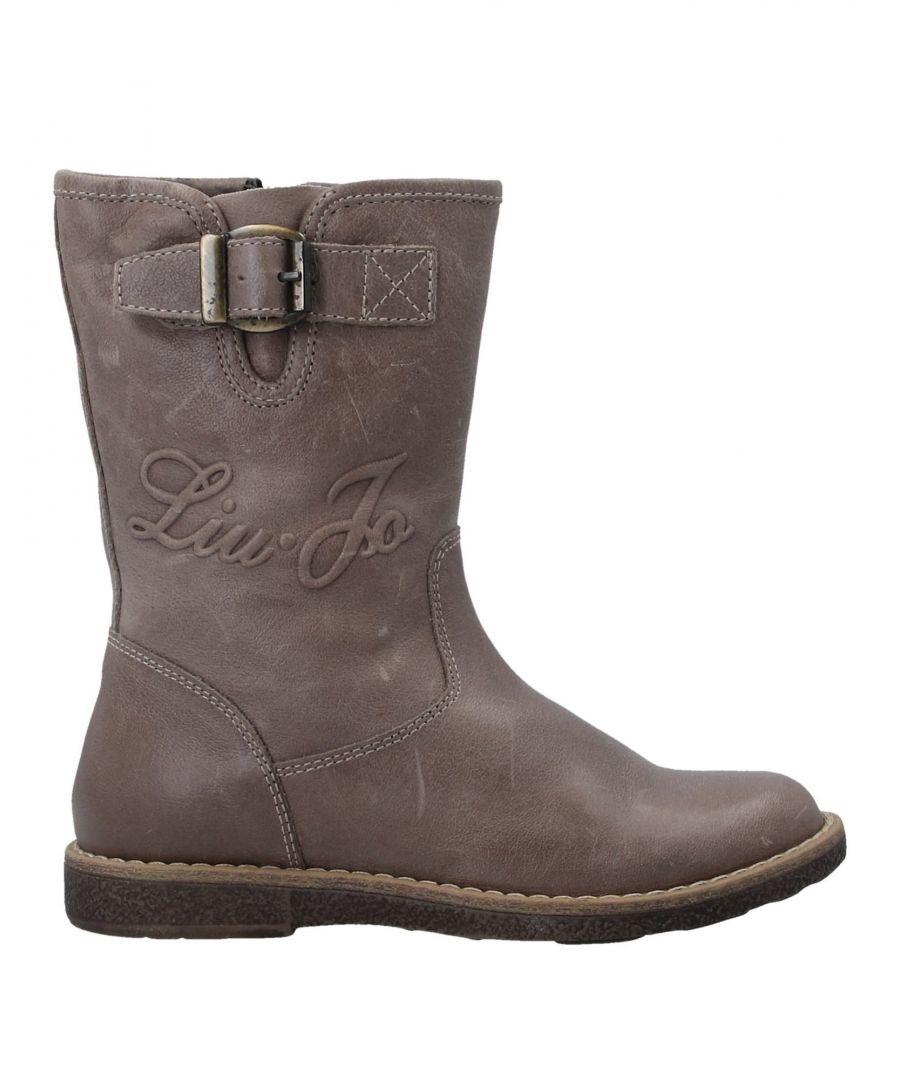 Image for Liu Jo Khaki Girls Leather Shoes