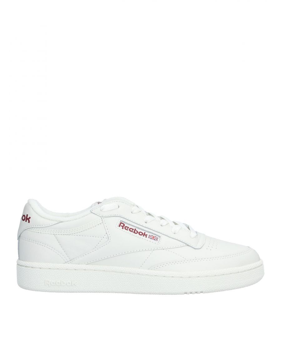 Image for Reebok White Leather Sneakers