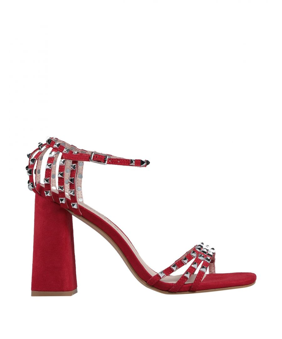 Image for Cafenoir Red Studded Heeled Sandals