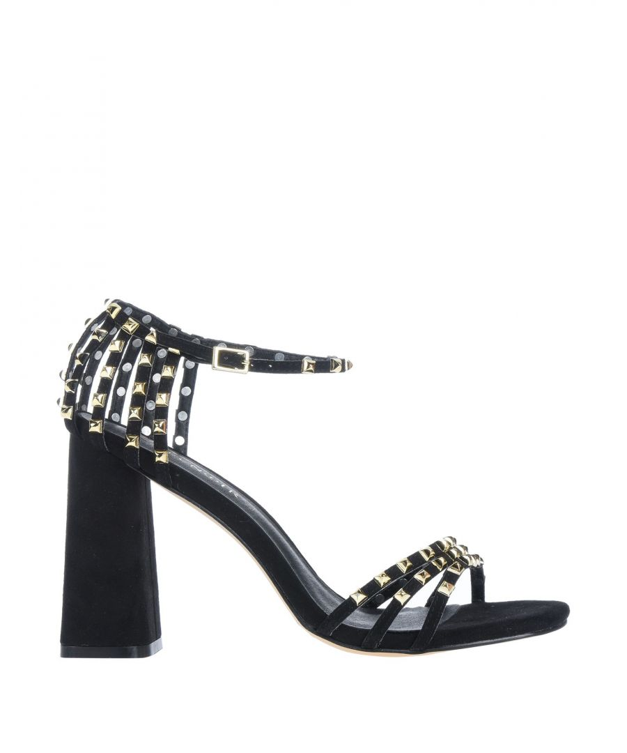 Image for Cafenoir Black Studded Heeled Sandals