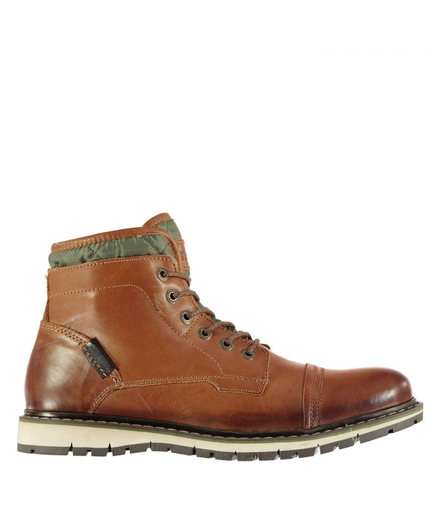 Image for Firetrap Mens Aubin Mess Boots Shoes Everyday Lace Up Textile Casual