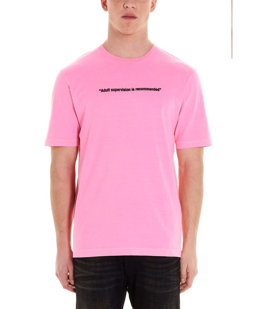 Image for DIESEL MEN'S 00SEG40CAYW3AX PINK COTTON T-SHIRT