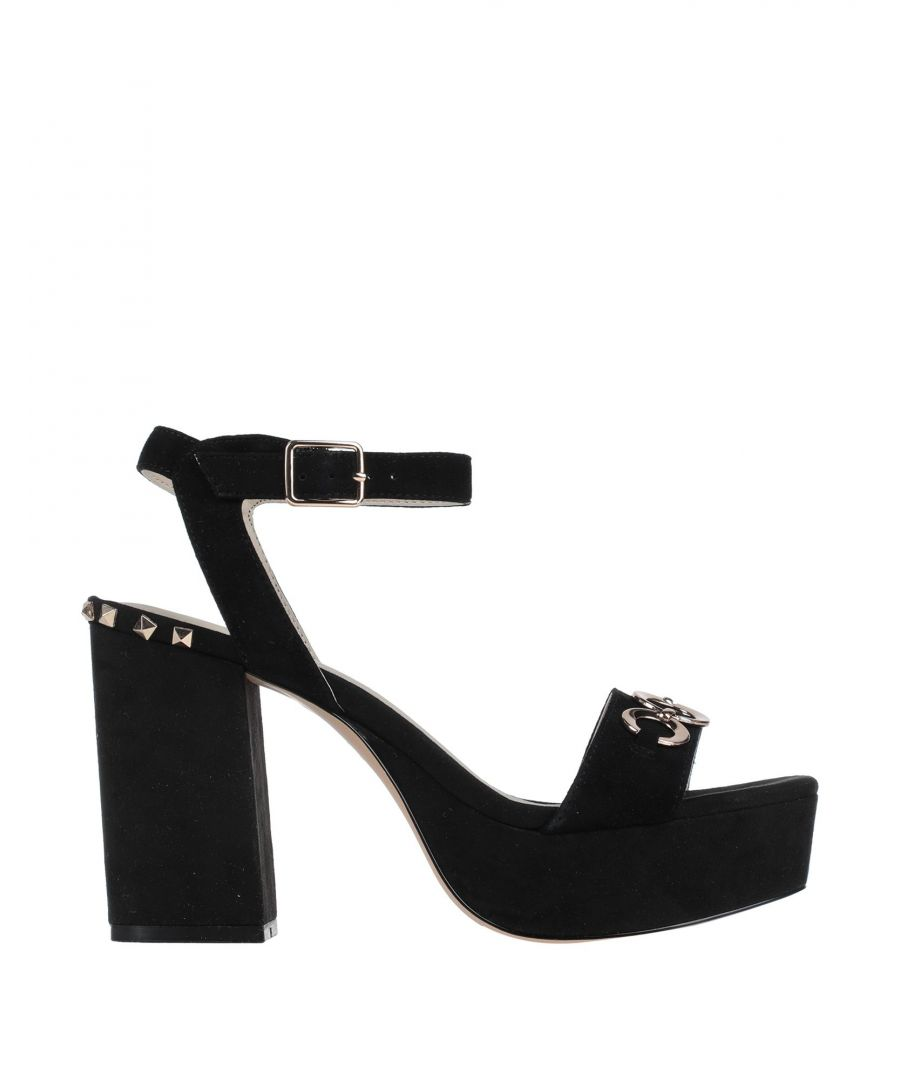 Image for Cafenoir Black Leather Studded Heeled Sandals