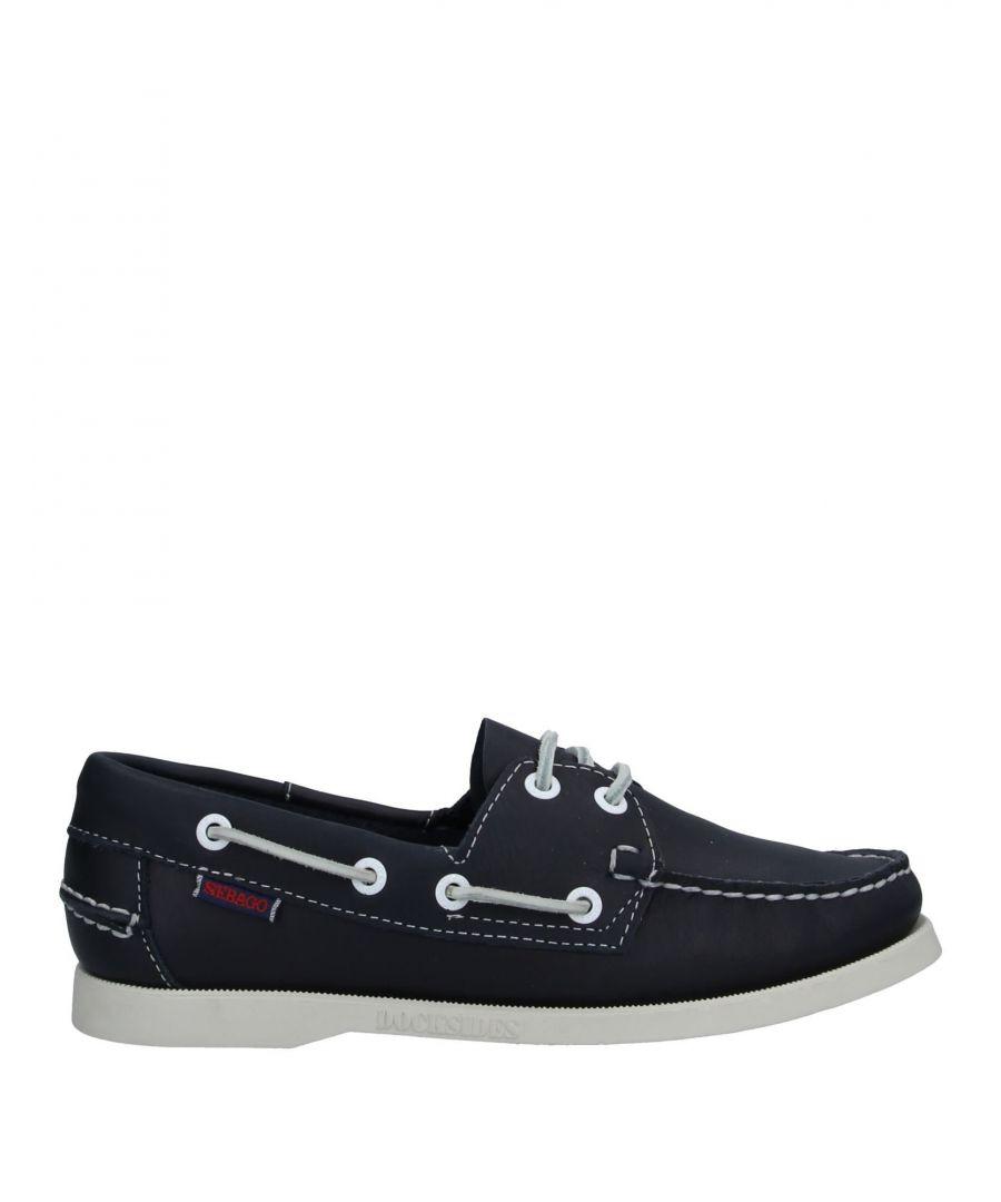 Image for Sebago Dark Blue Leather Boat Shoes