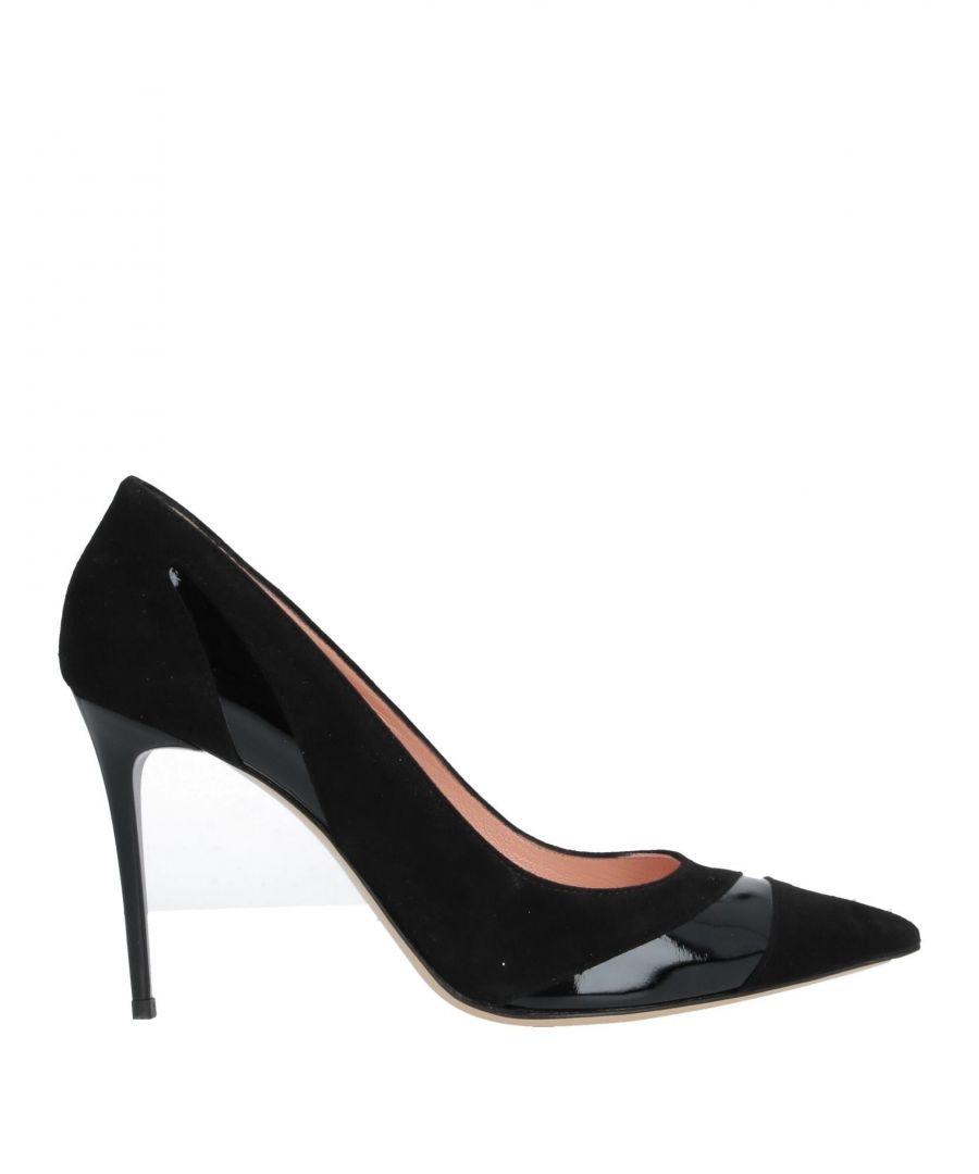 Image for Nenette Black Leather Court Shoe Heels