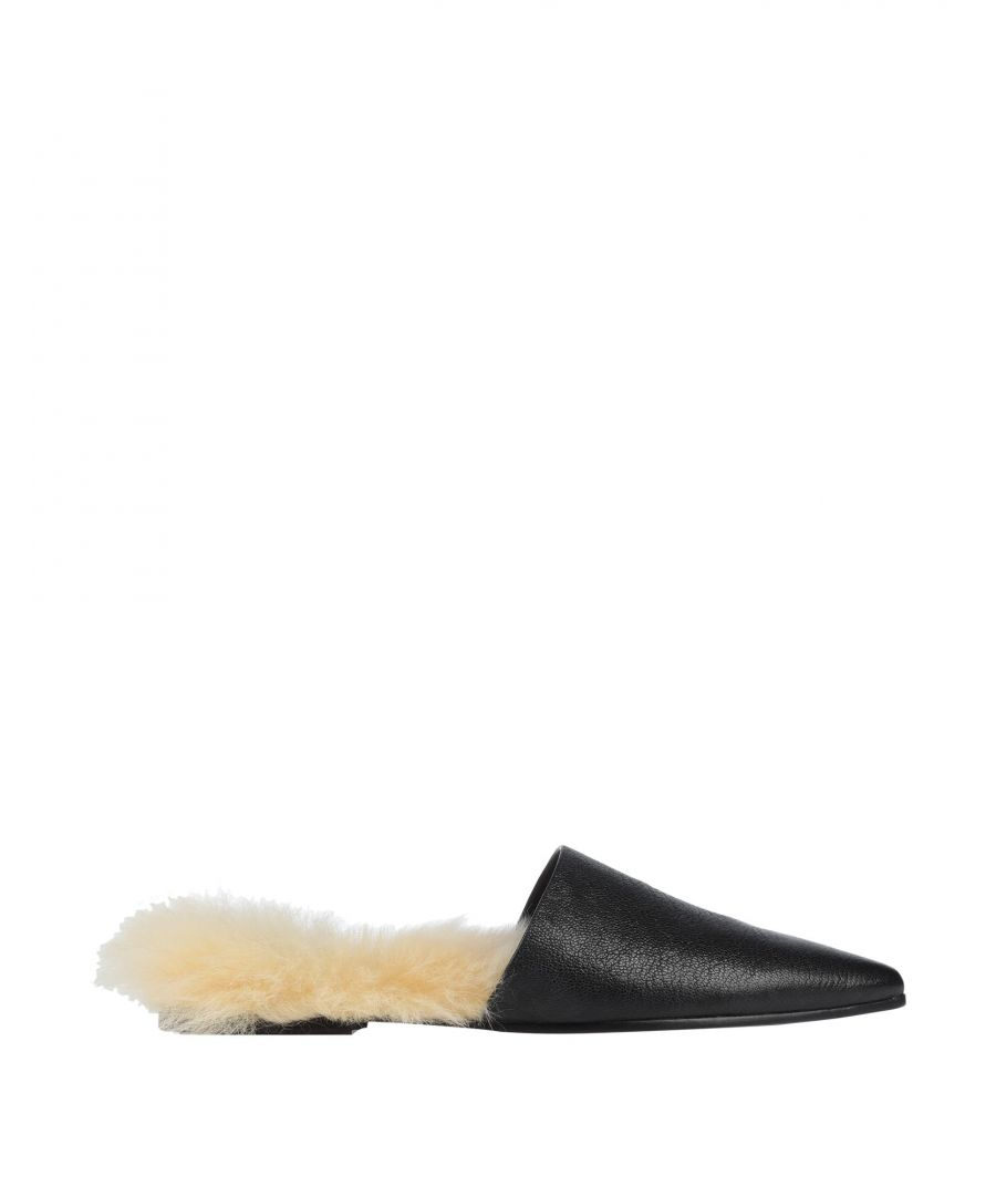 Image for Brunello Cucinelli Black Leather Mules