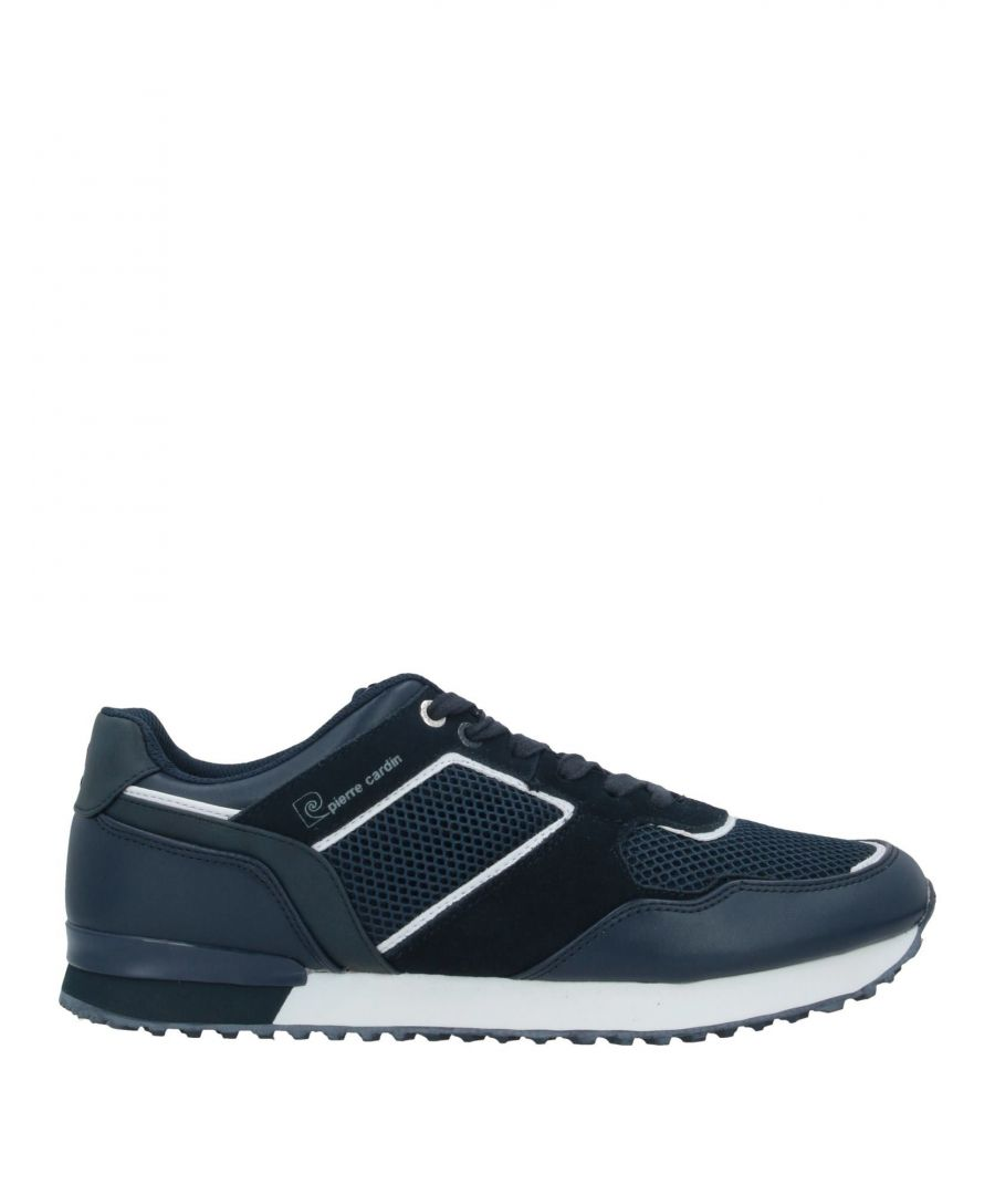 Image for Pierre Cardin Dark Blue Leather Sneakers
