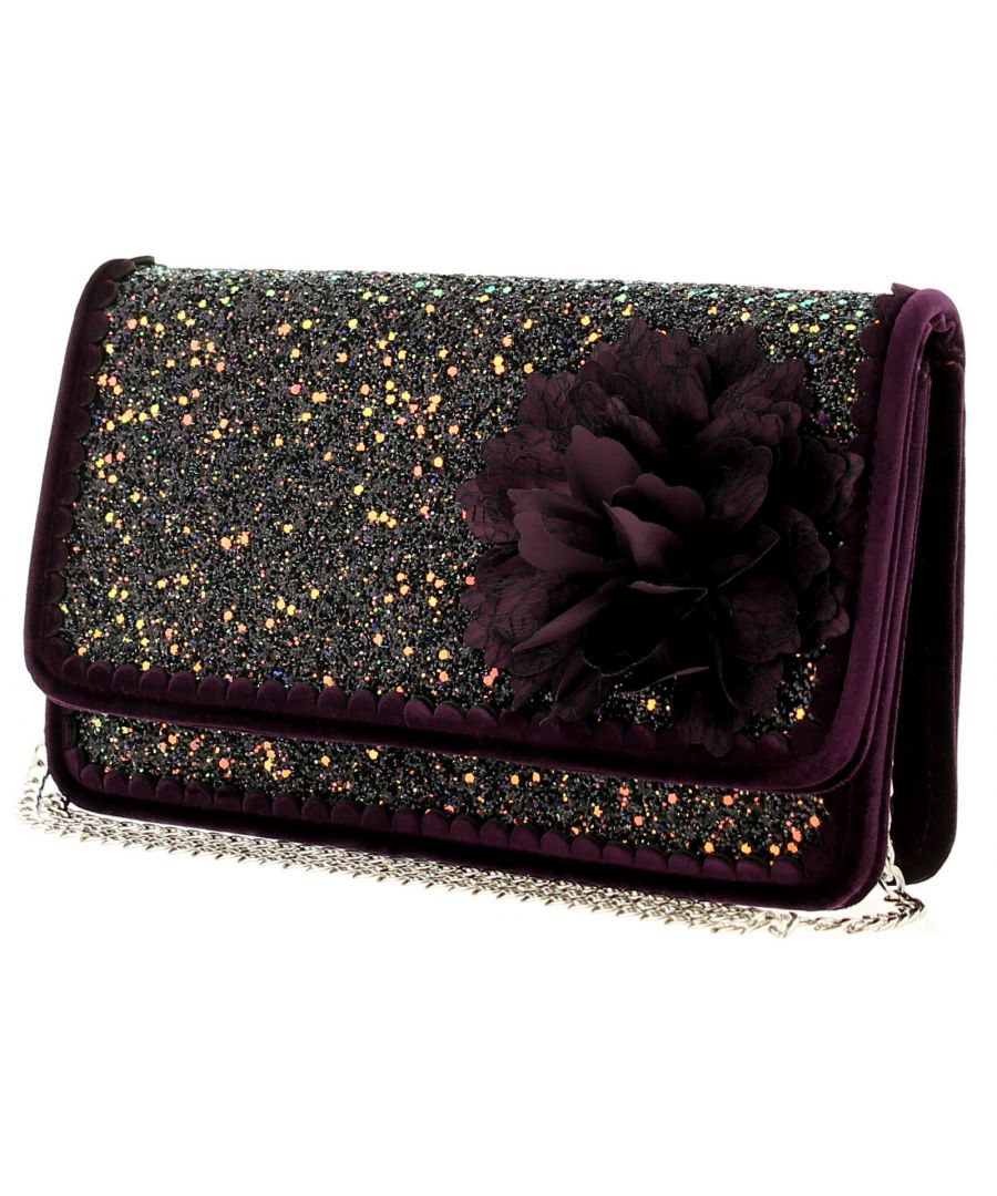 Image for Joe Browns Couture rebel bag couture womens bag black/purple/glitter