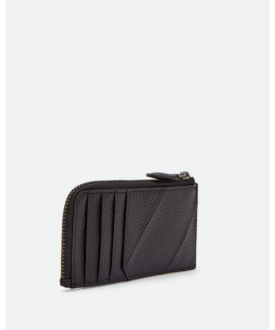 Image for Ted Baker Fitcard Seamed Leather Cardholder, Black