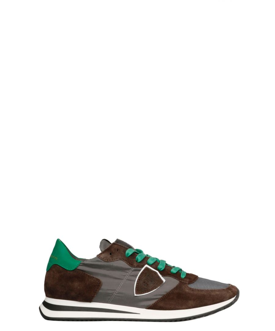 Image for PHILIPPE MODEL MEN'S TZLUW004 BROWN FABRIC SNEAKERS