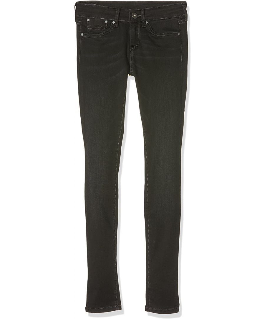 Image for Pepe Jeans Girls Skinny Jeans with Stitching in Black