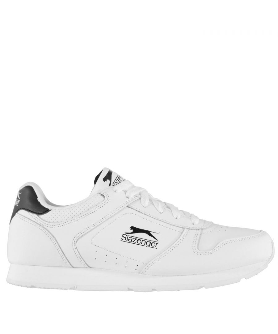 Image for Slazenger Classic Mens Lace Up Leather Trainers Sneakers Casual Sports Shoes