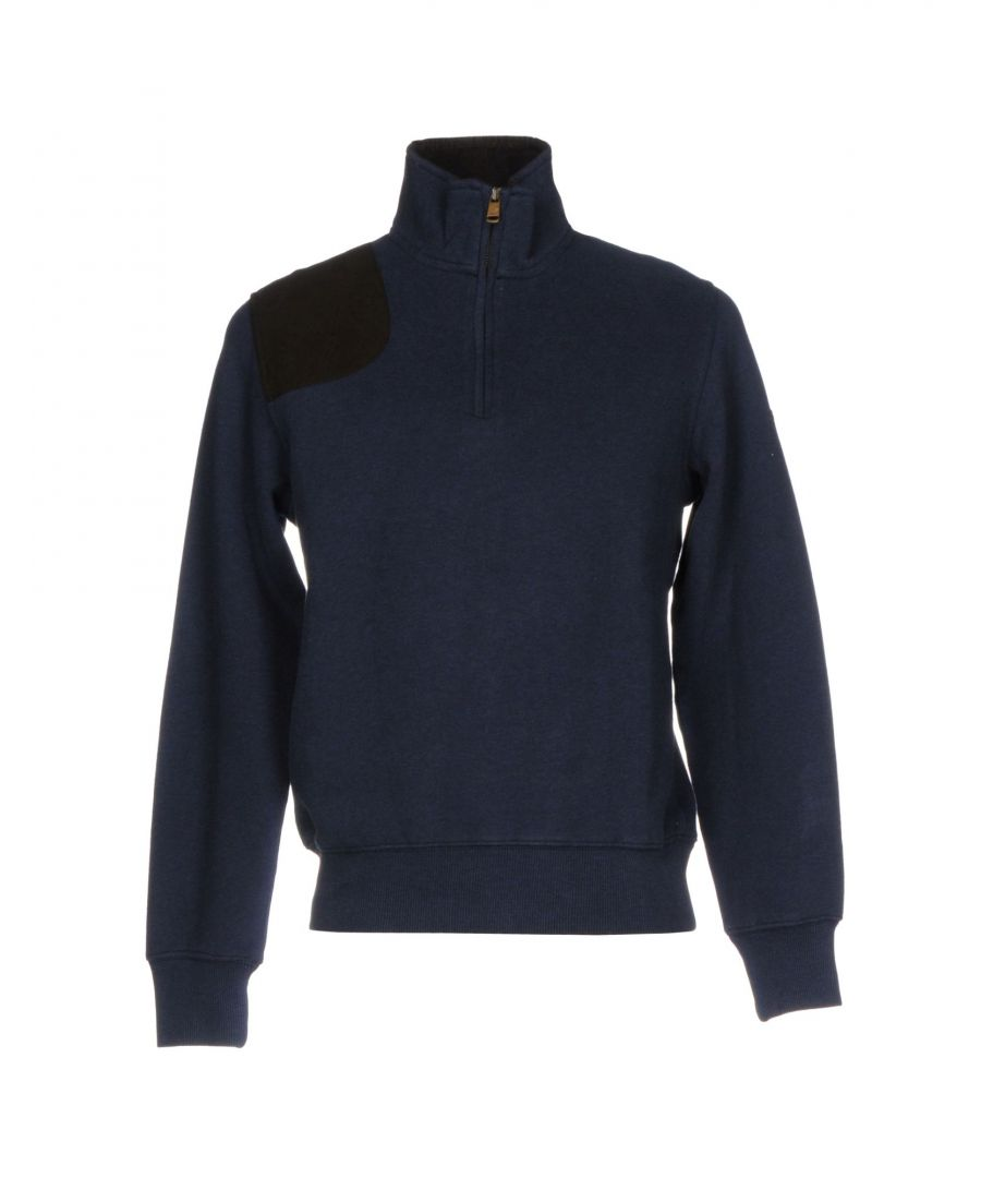 Image for Henry Cotton's Dark Blue Cotton Half Zip Sweatshirt