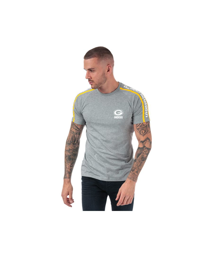 Image for Men's New Era Raglan Green Bay Packers T-Shirt in Light Grey