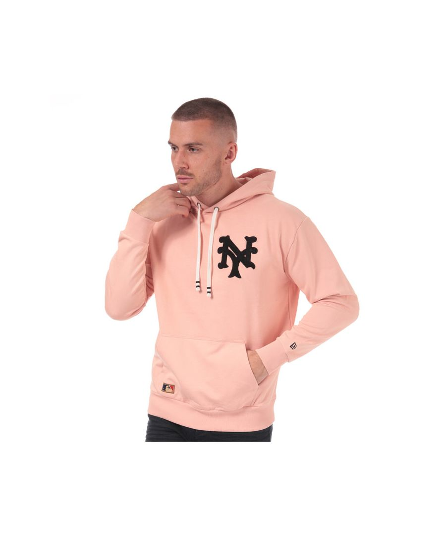 Image for Men's New Era New York Giants Big Logo Hoody in Dusky Pink