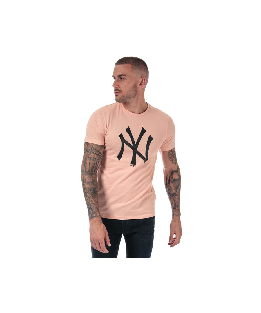 Image for Men's New Era Seasonal NYY Logo T-Shirt in Pink