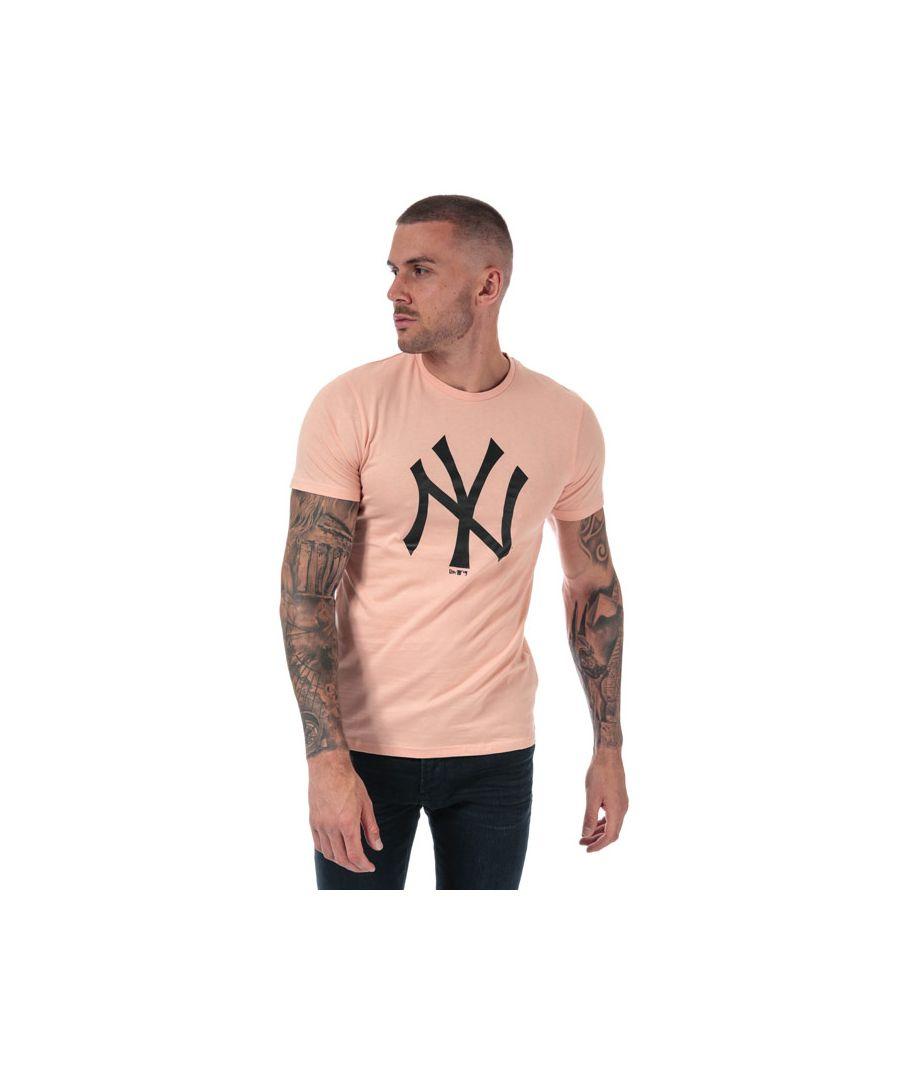 Image for Men's New Era Seasonal NYY Logo T-Shirt in Pink