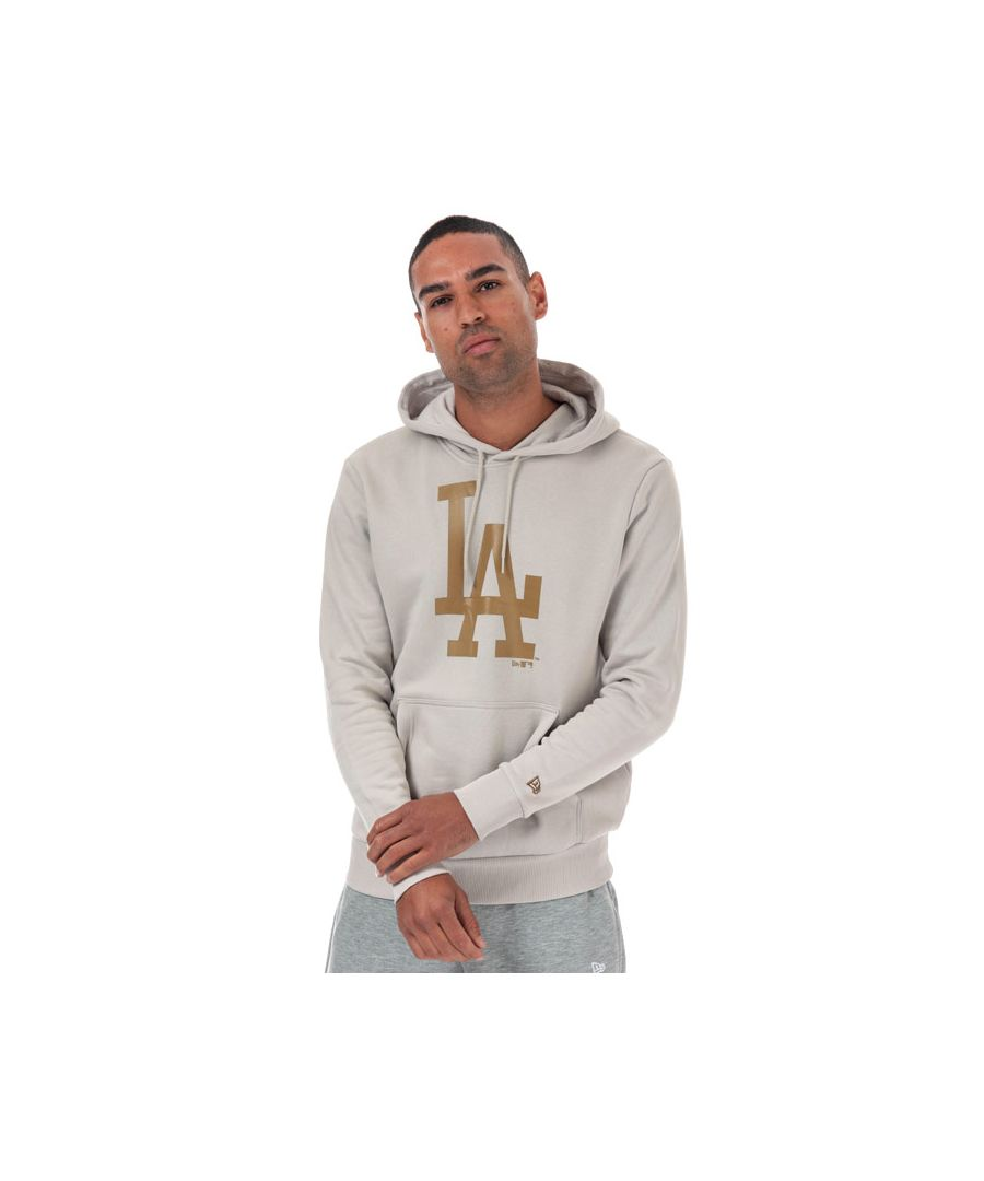 Image for Men's New Era Sesaonal LA Dodgers Team Hoody in Stone