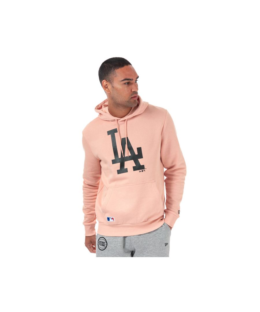 Image for Men's New Era Sesaonal LA Dodgers Team Hoody in Pink