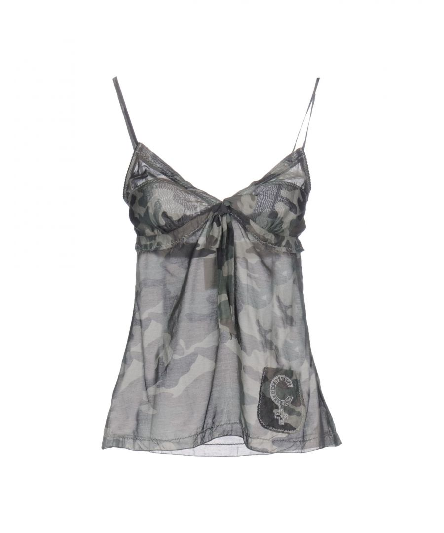 Image for Richmond Denim Military Green Print Cotton Camisole