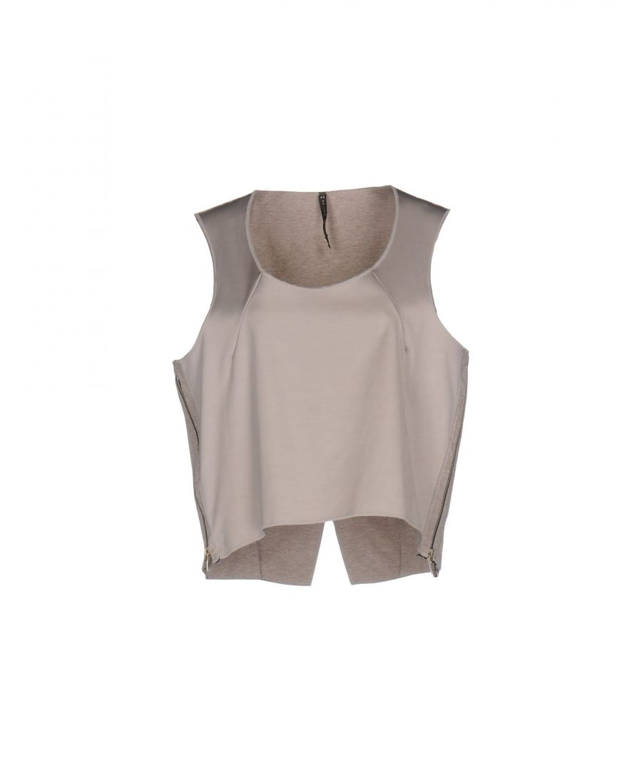 Image for Manila Grace Dove Grey Satin Top