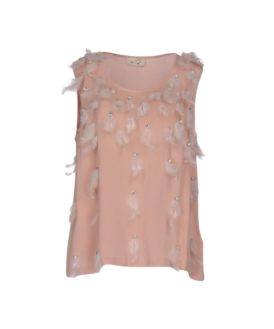 Image for Ki6? Who Are You? Pale Pink Embellished Sleeveless Top