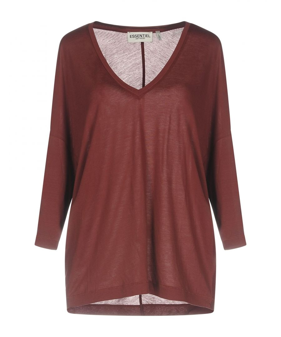 Image for TOPWEAR Essentiel Antwerp Brick red Woman Tencel