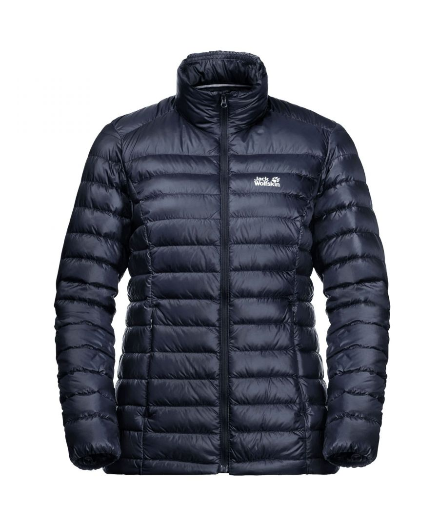 Image for Jack Wolfskin JWP Down Womens Waterproof Jacket Navy Blue - UK 8-10