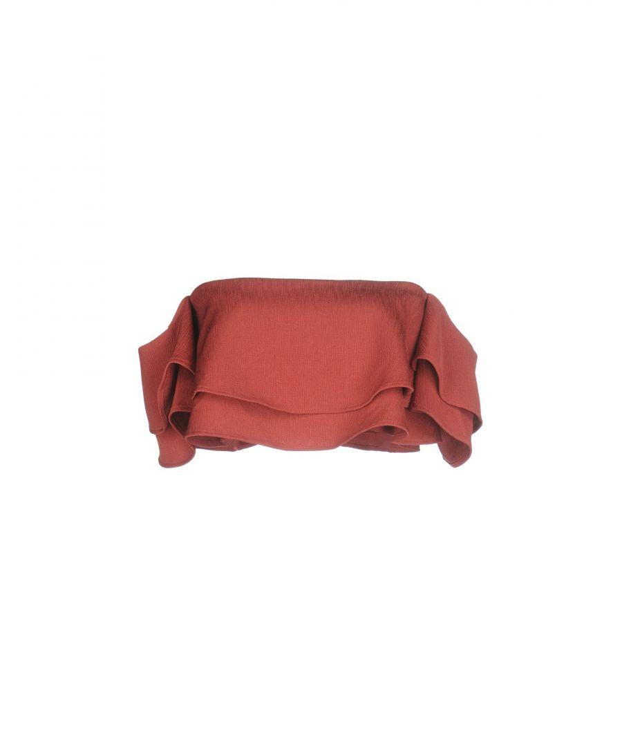 Image for Keepsake Pastel Pink Ruffle Cropped Strapless Top