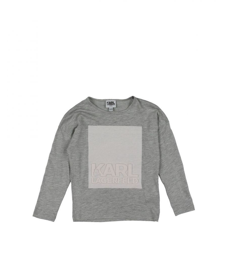 Image for TOPWEAR Karl Lagerfeld Light grey Girl Cotton