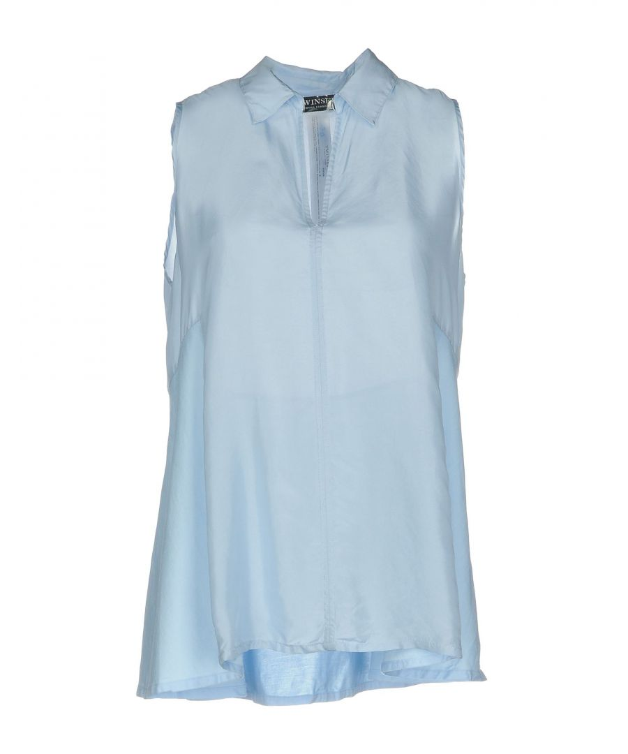Image for Twinset Sky Blue Silk Top