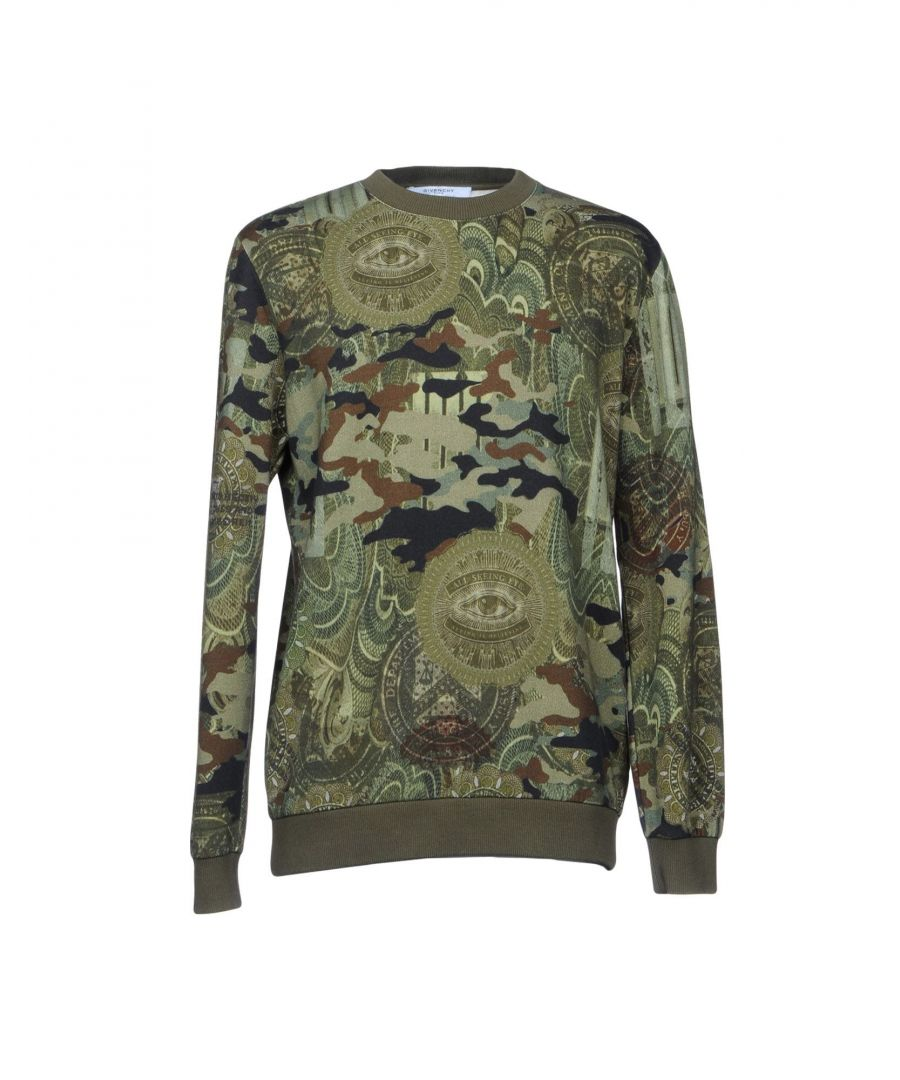 Image for Givenchy Military Green Cotton Sweatshirt