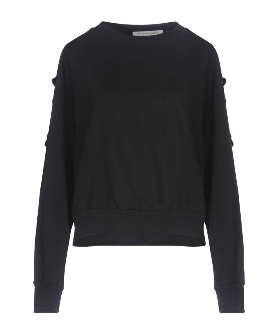 Image for Philosophy Di Lorenzo Serafini Black Cotton Sweatshirt