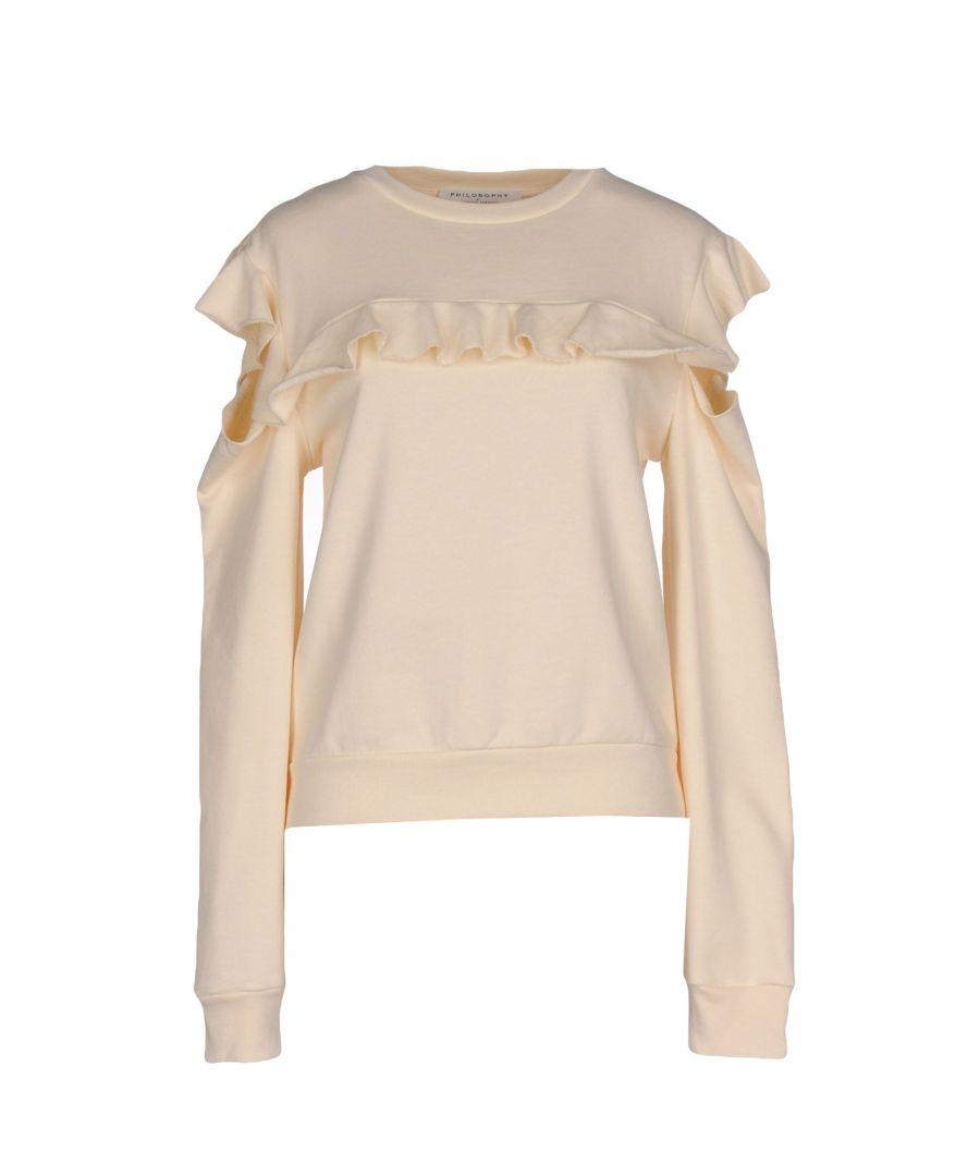 Image for Philosophy Di Lorenzo Serafini Ivory Cotton Ruffle Sweatshirt