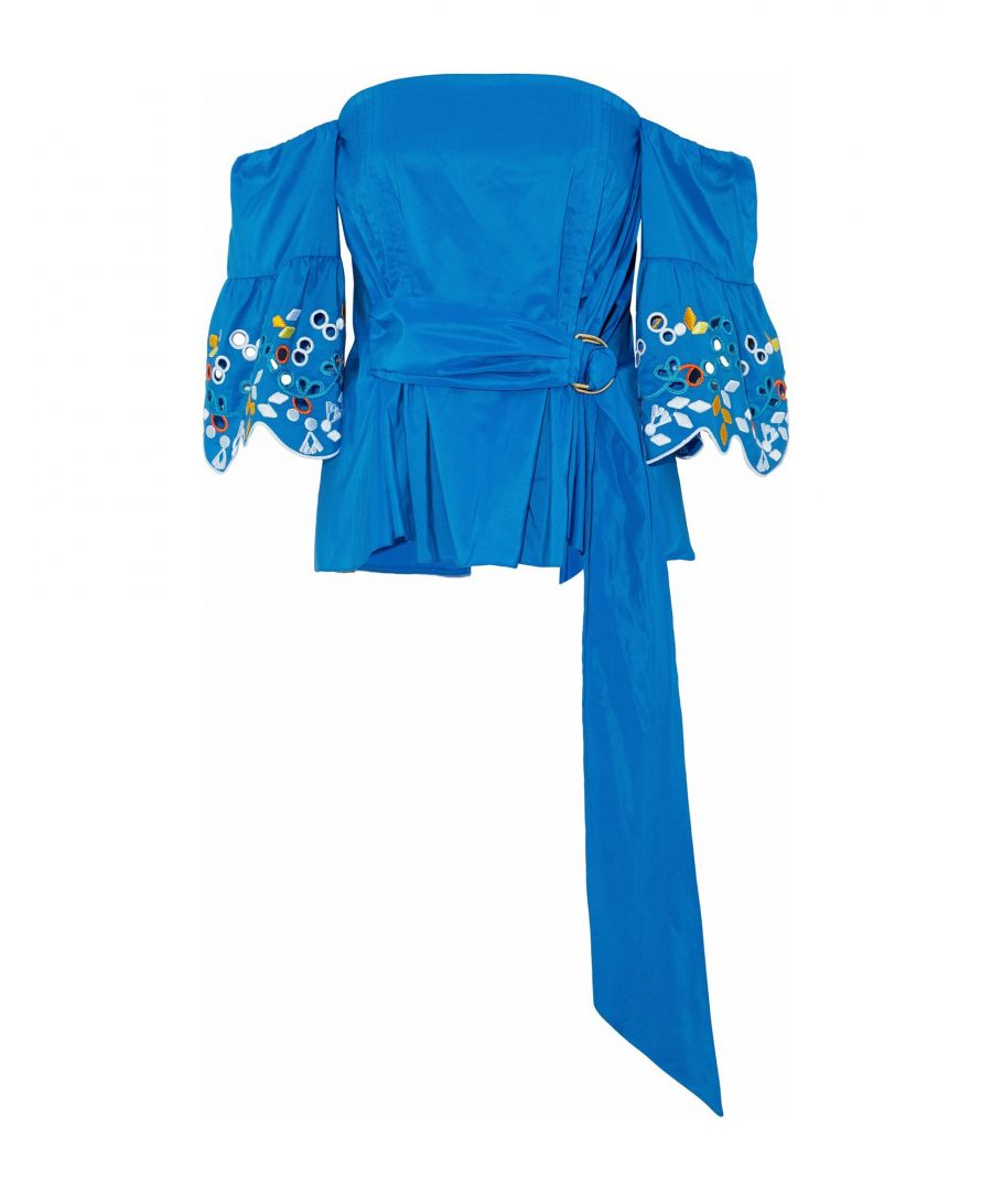 Image for Peter Pilotto Bright blue, Fuchsia Polyester Blouses