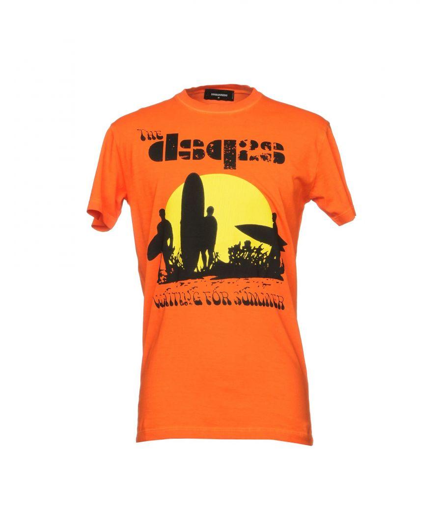 Image for Dsquared2 Orange Print Cotton T-Shirt