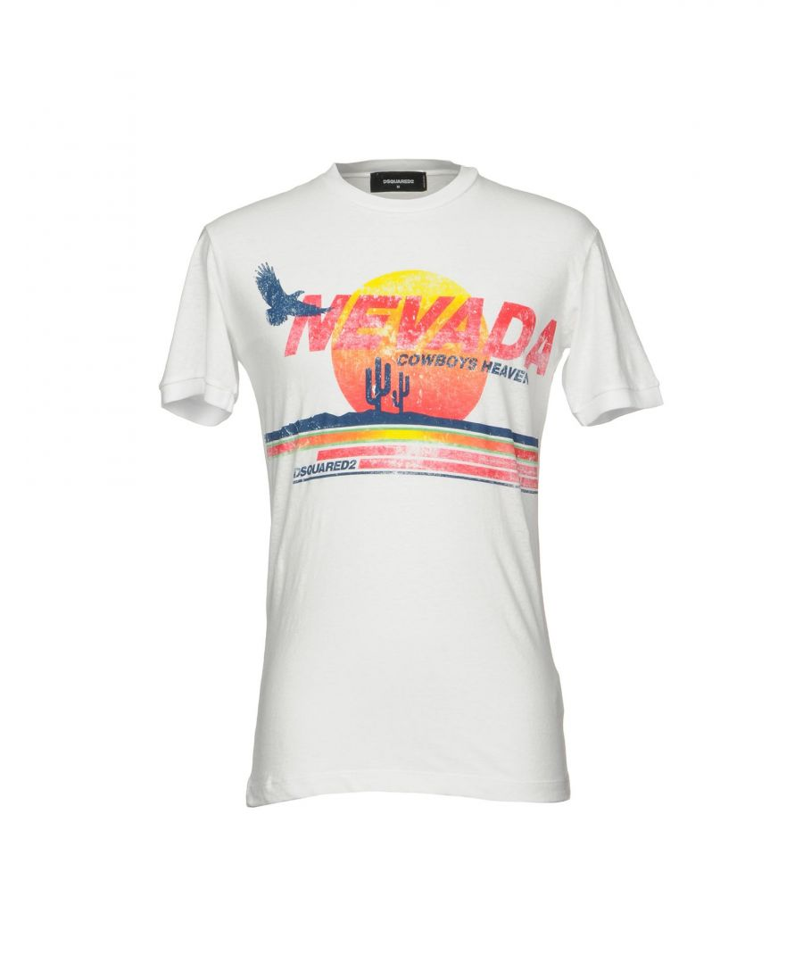 Image for Dsquared2 White Print Cotton T-Shirt
