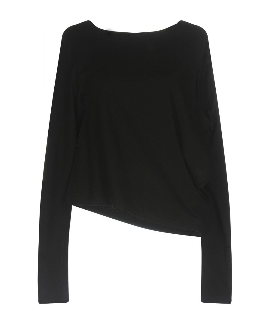 Image for MM6 Maison Margiela Black Cotton Long Sleeve Top