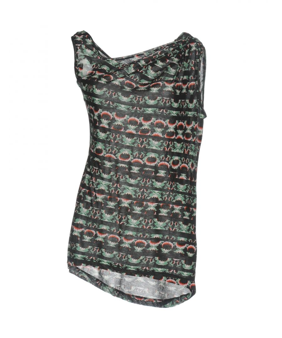 Image for Pinko Uniqueness Black Print Cotton Sleeveless Top