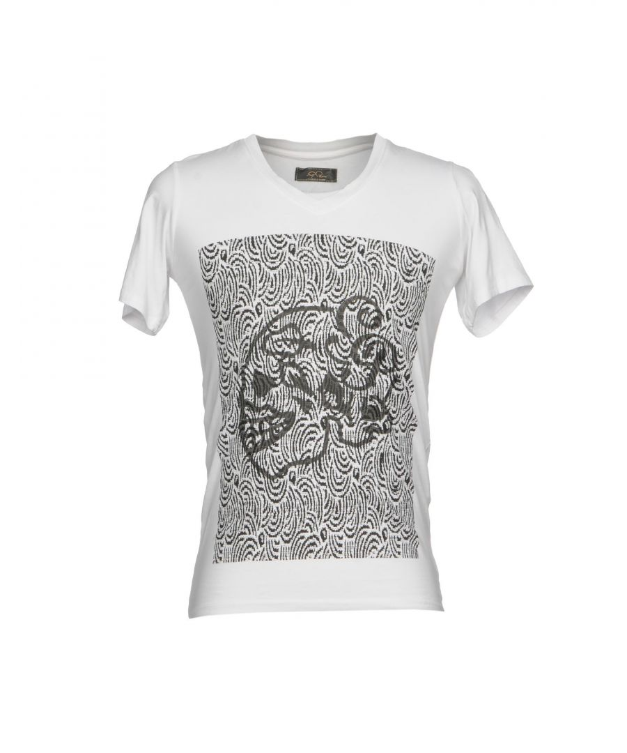 Image for Gabriele Pasini White Print Cotton T-Shirt