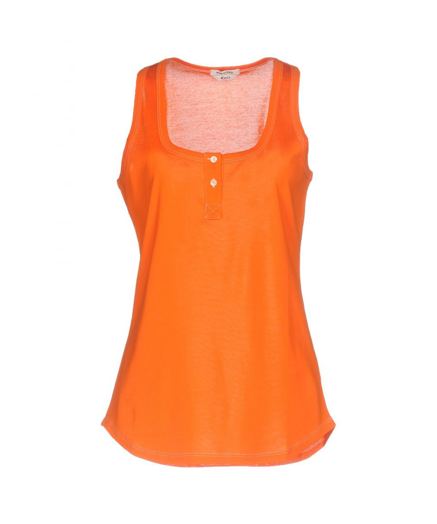 Image for Cycle Woman T-shirts Orange Cotton