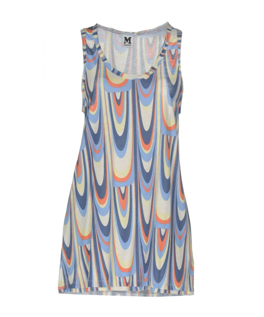 Image for M Missoni Sky Blue Pattern Tank