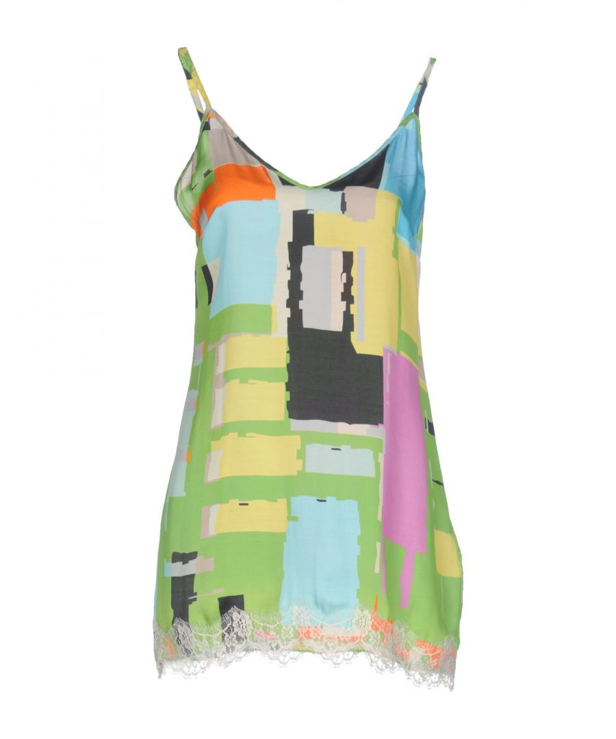 Image for Pink Memories Acid Green Print Camisole Dress