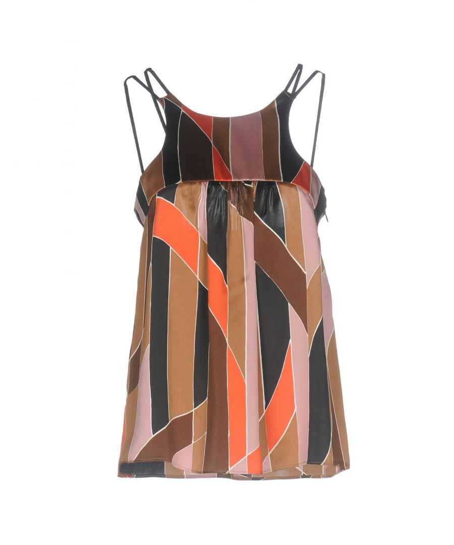 Image for M Missoni Brown Print Silk Camisole