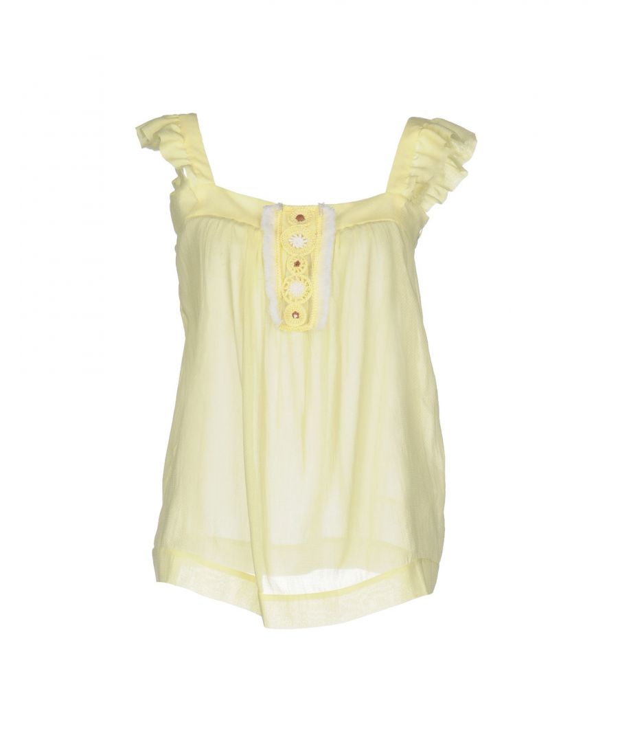 Image for M Missoni Light Yellow Cotton Camisole